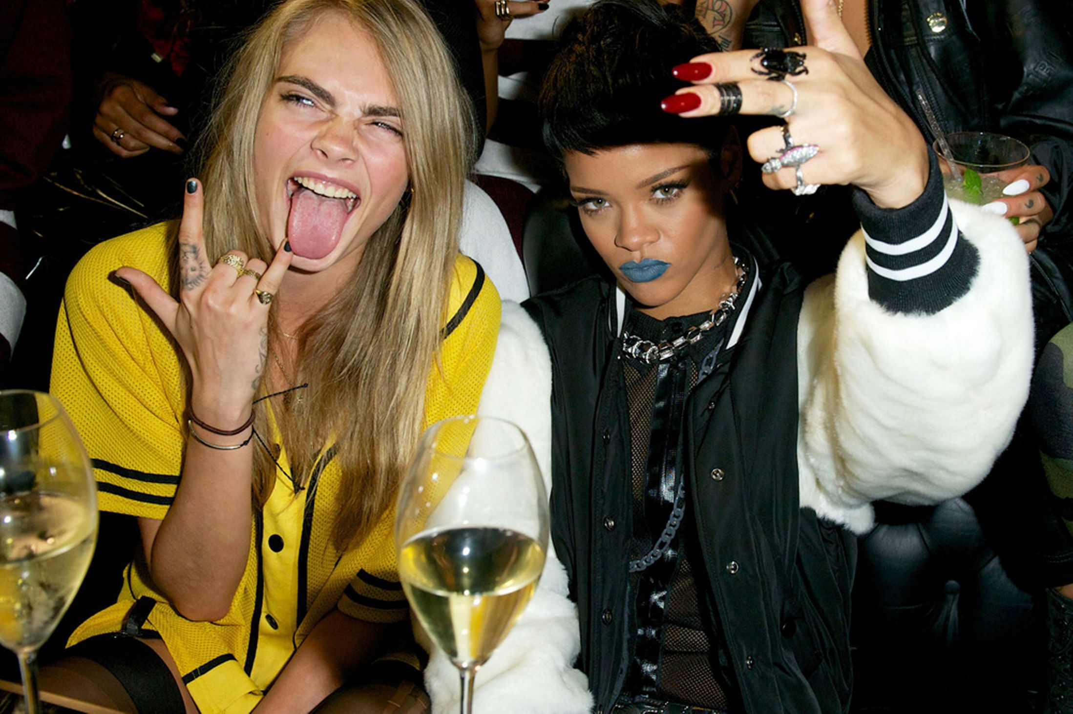 Celebrity Slice Rihanna And Cara Delevingne