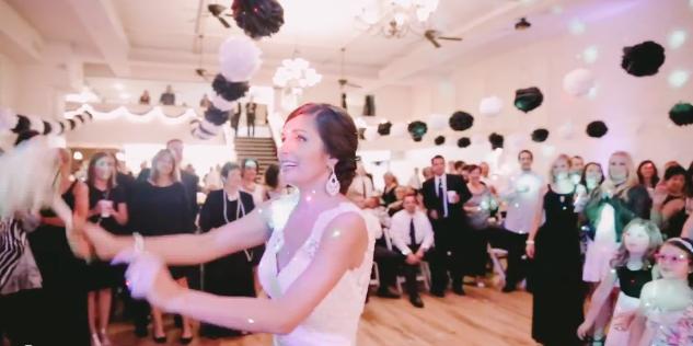 wedding reception proposal celebrity slice