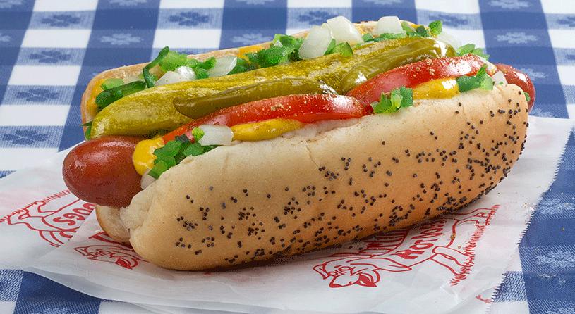 portillos hot dogs celebrity slice