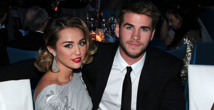 Liam Hemsworth and Miley cyrus celebrity slice
