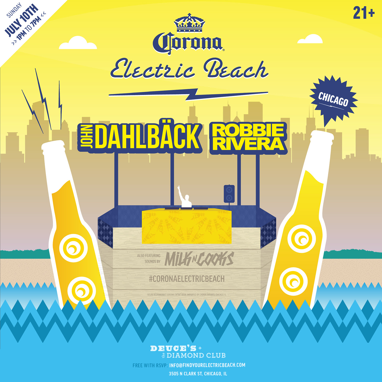 corona electric beach Celebrity slice