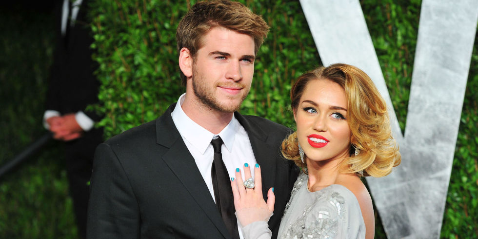 Miley Cyrus and Liam Hemsworth celebrity slice