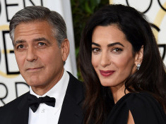 amal clooney and george celebrity slice