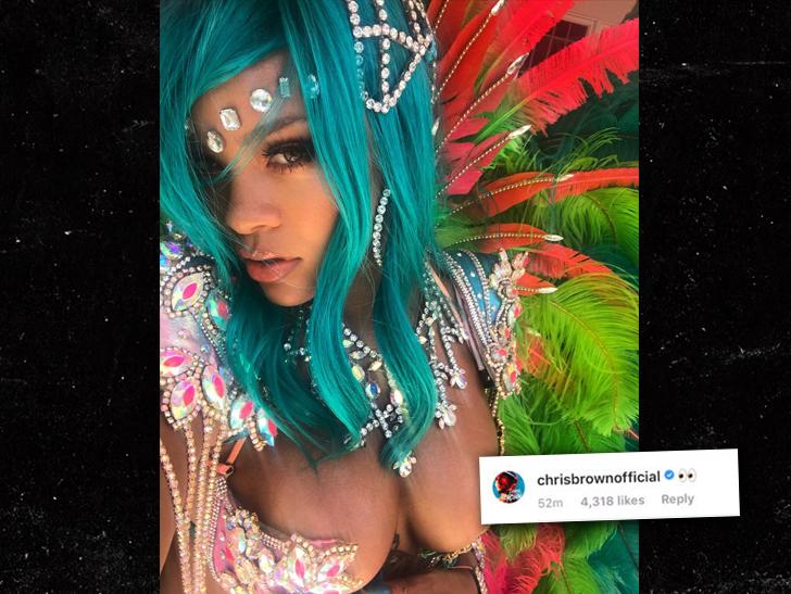 chris brown rihanna comment instagram celebrity slice